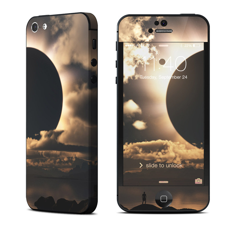 iPhone 5 Skin design of Sky, Cloud, Daytime, Eclipse, Atmosphere, Cumulus, Sunlight, Sun, Astronomical object, Celestial event with black, red, green, gray, pink, yellow colors