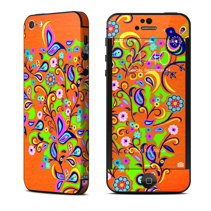 Orange Squirt iPhone 5 Skin