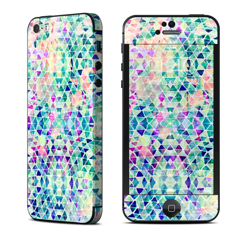 iPhone 5 Skin design of Pattern, Aqua, Line, Teal, Purple, Turquoise, Design with white, blue, purple, orange, green colors