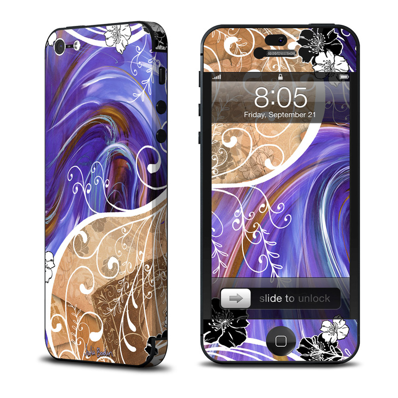 Purple Waves iPhone 5 Skin