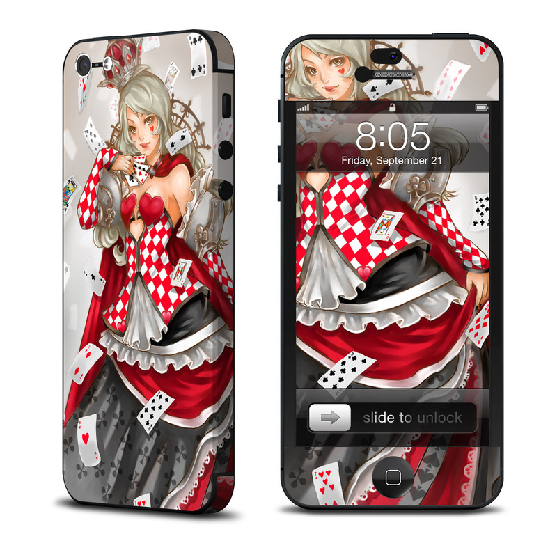 Queen Of Cards iPhone 5 Skin