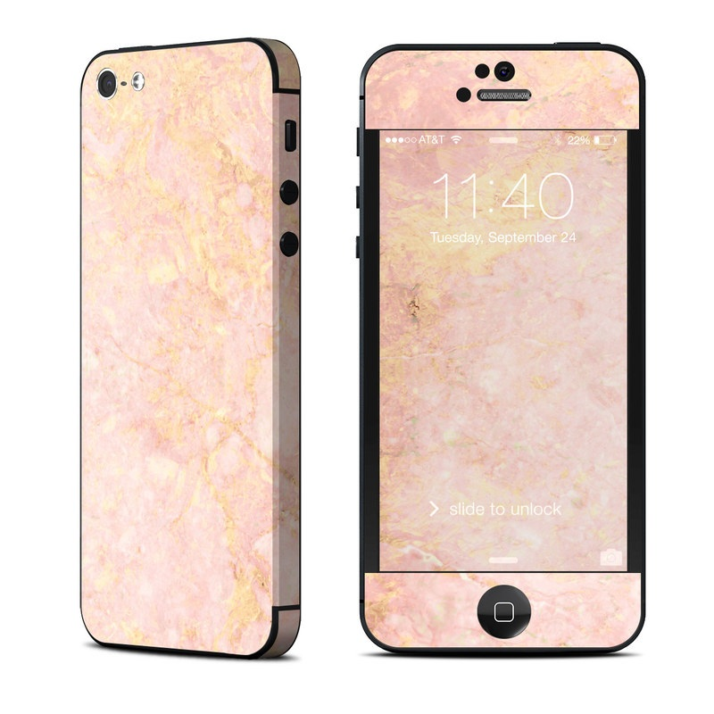 huge selection of 4adeb 7f4d6 Rose Gold Marble iPhone 5 Skin