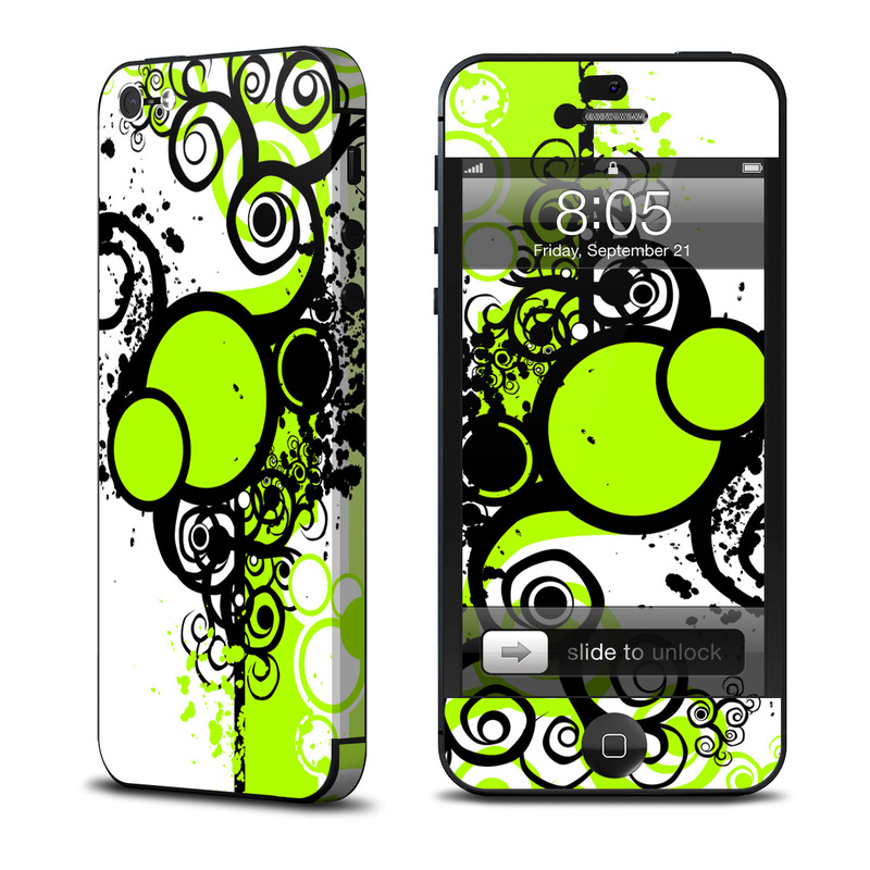iPhone 5 Skin design of Green, Circle, Graphic design, Leaf, Visual arts, Font, Design, Line, Pattern, Clip art with white, black, green, gray colors