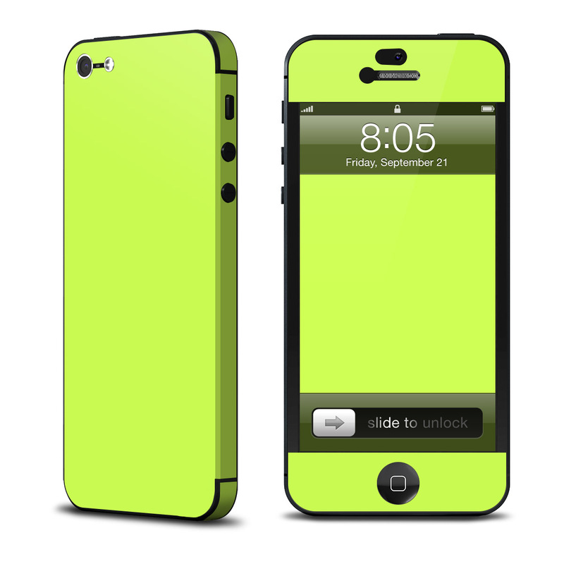 iPhone 5 Skin design of Green, Yellow, Text, Leaf, Font, Grass with green colors