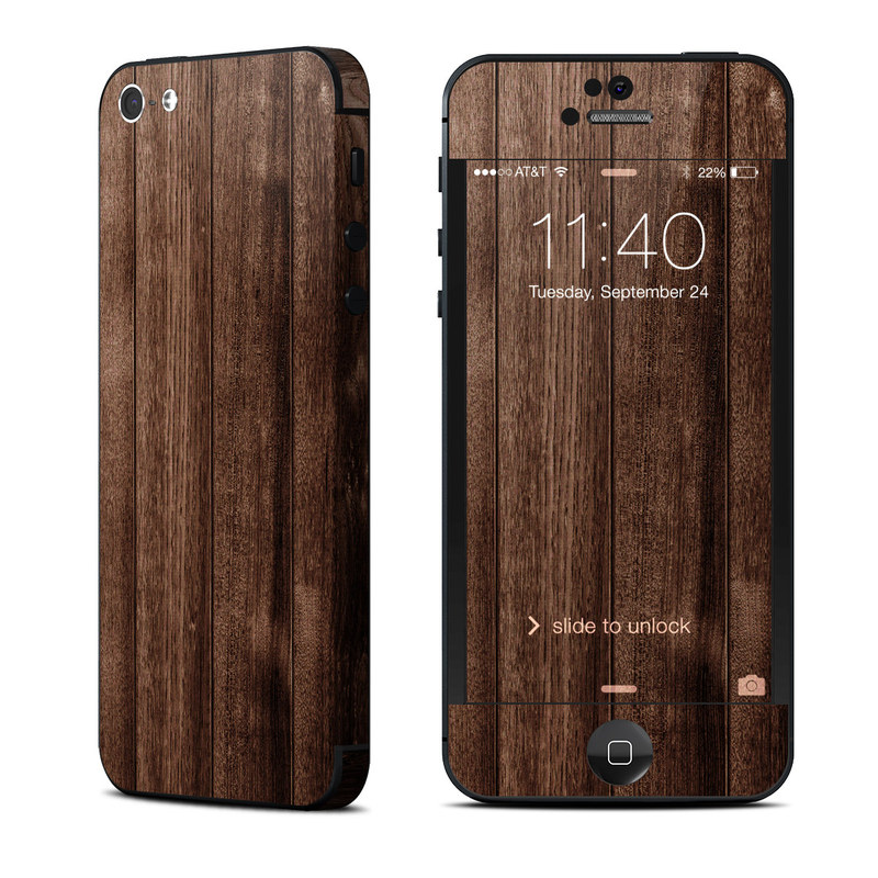 Stained Wood iPhone 5 Skin