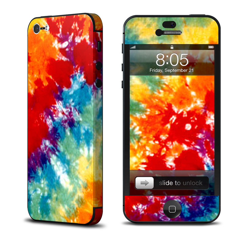 iPhone 5 Skin design of Orange, Watercolor paint, Sky, Dye, Acrylic paint, Colorfulness, Geological phenomenon, Art, Painting, Organism with red, orange, blue, green, yellow, purple colors