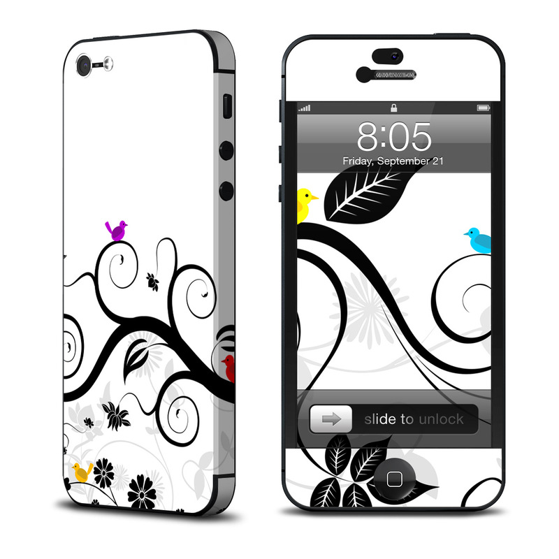 iPhone 5 Skin design of Floral design, Clip art, Botany, Branch, Line art, Design, Graphic design, Black-and-white, Ornament, Illustration with white, gray, black colors