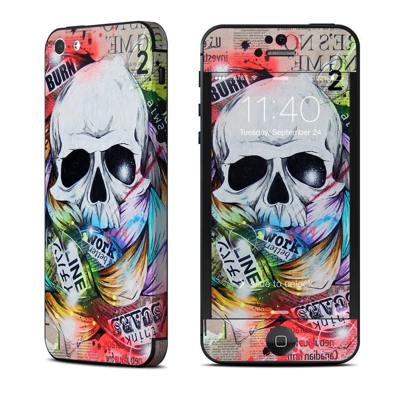 iPhone 5 Skin design of Street art, Text, Graphic design, Font, Illustration, Art, Graffiti, Skull, Poster, Advertising with gray, black, red, green, blue colors