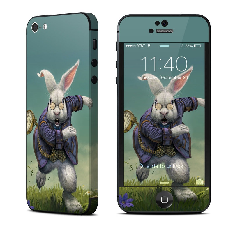 White Rabbit iPhone 5 Skin