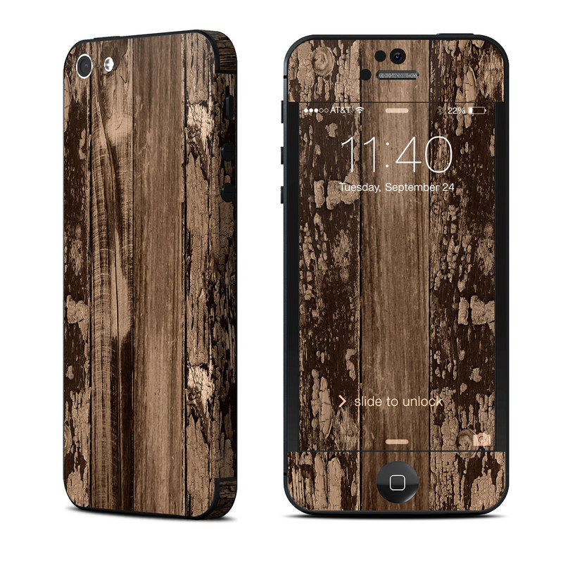 Weathered Wood iPhone 5 Skin