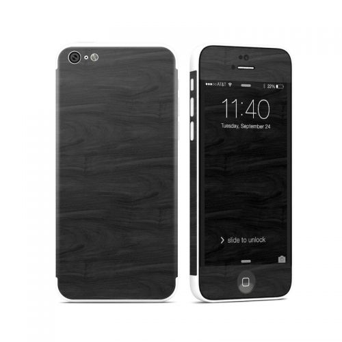 Black Woodgrain iPhone 5c Skin