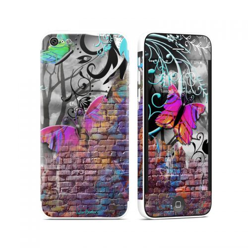 Butterfly Wall iPhone 5c Skin