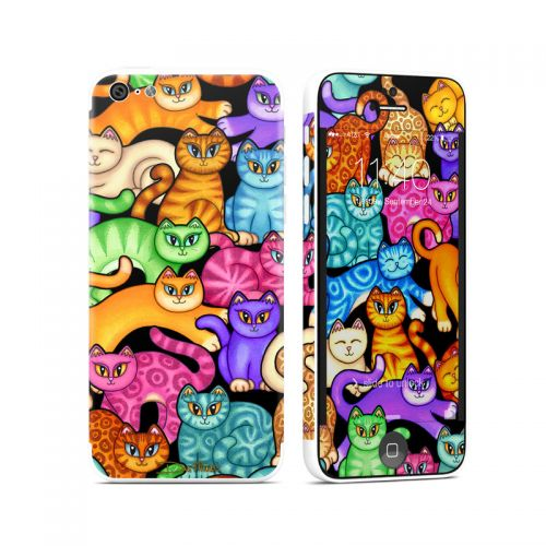 Colorful Kittens iPhone 5c Skin