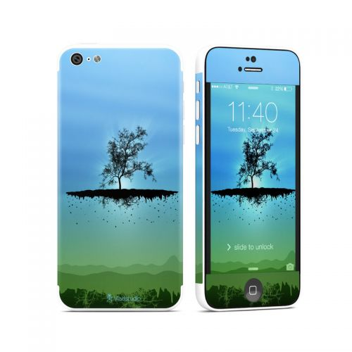 Flying Tree Blue iPhone 5c Skin