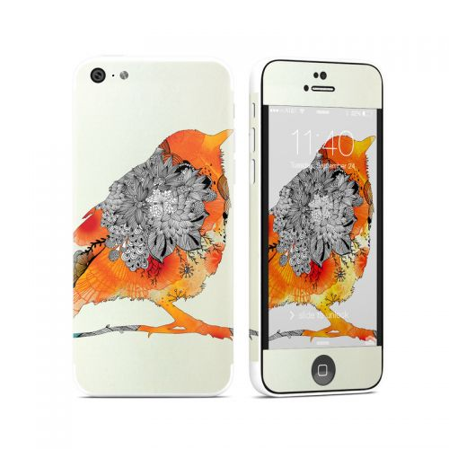 Orange Bird iPhone 5c Skin
