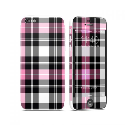 Pink Plaid iPhone 5c Skin