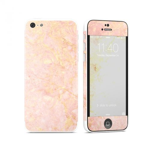 Rose Gold Marble iPhone 5c Skin