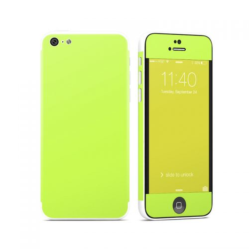 Solid State Lime iPhone 5c Skin