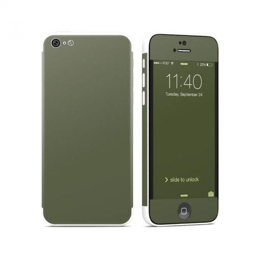 Solid State Olive Drab iPhone 5c Skin