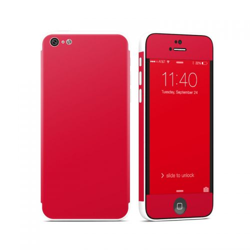 Solid State Red iPhone 5c Skin