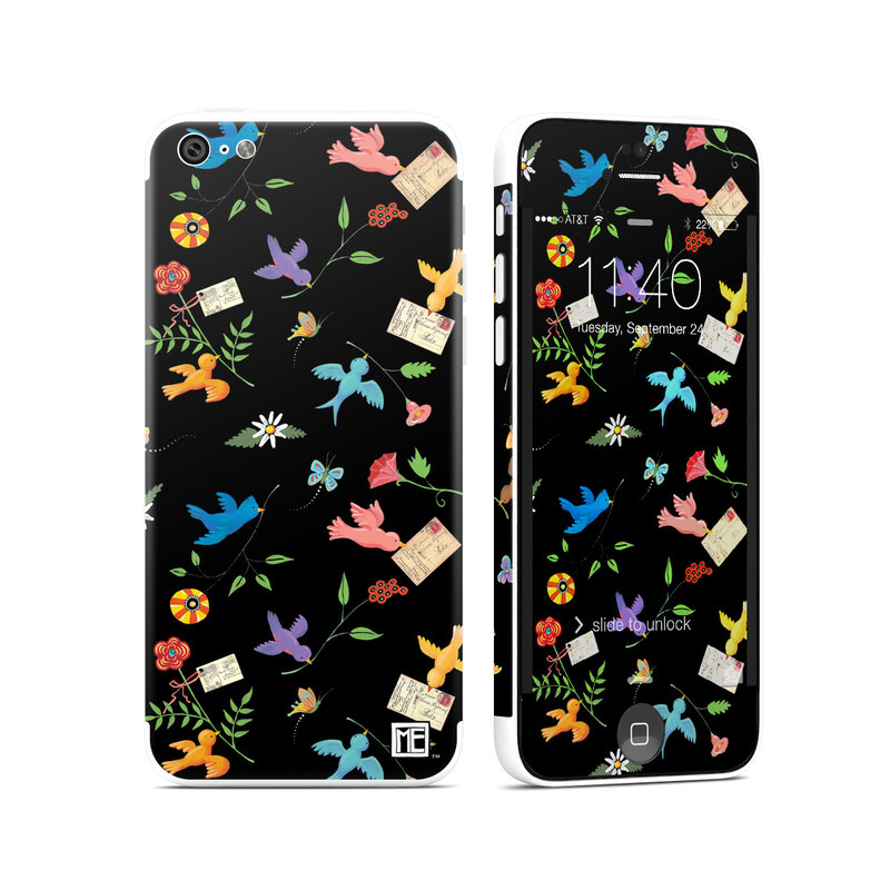 iPhone 5c Skin design of Pattern, Design, Textile, Graphic design with black, yellow, red, blue, green colors