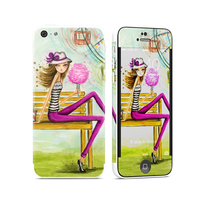 Carnival Cotton Candy iPhone 5c Skin