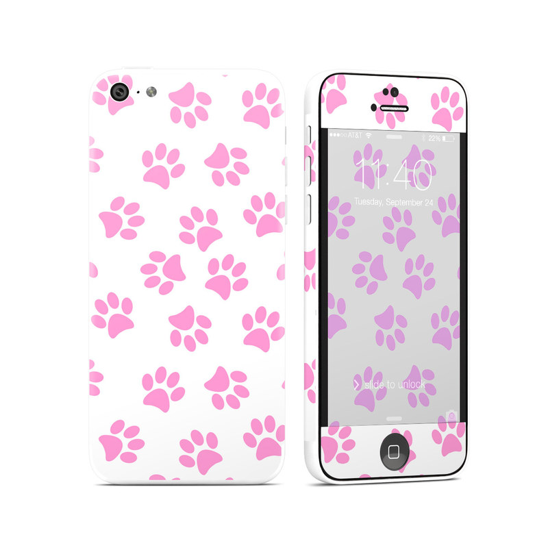 iPhone 5c Skin design of Pink, Heart, Pattern, Design, Magenta, Petal, Pedicel, Clip art with white, pink colors