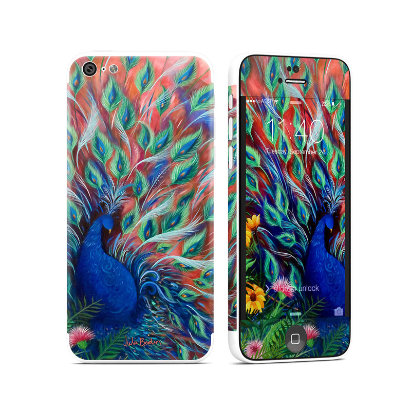 Coral Peacock IPhone 5c Skin