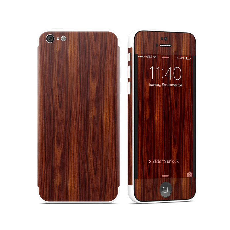 Dark Rosewood iPhone 5c Skin