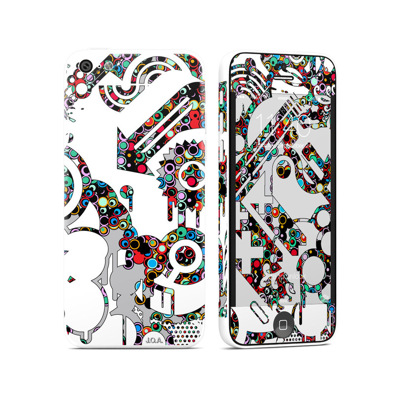 iPhone 5c Skin design of Pattern, Line art, Design, Visual arts, Graphic design, Art, Illustration with white, gray, black, red, blue, purple colors