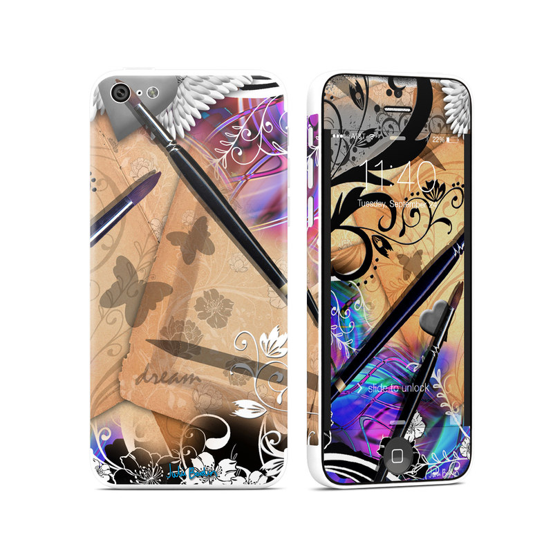 iPhone 5c Skin design of Graphic design, Purple, Eye, Violet, Illustration, Eyelash, Design, Material property, Art, Visual arts with gray, black, green, red, purple, blue colors