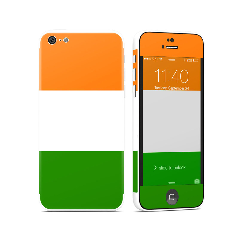 Irish Flag iPhone 5c Skin