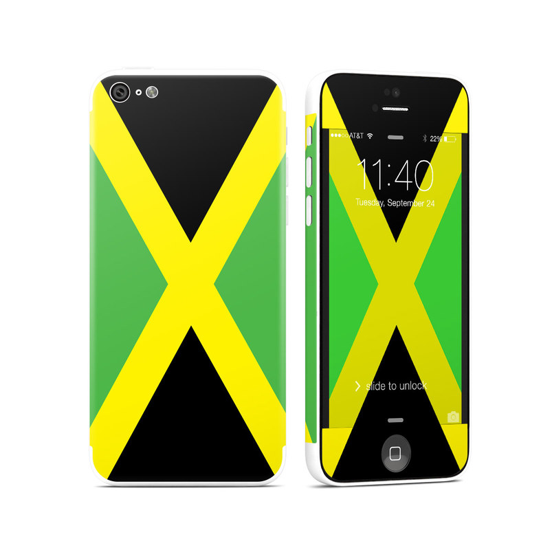 Jamaican Flag iPhone 5c Skin