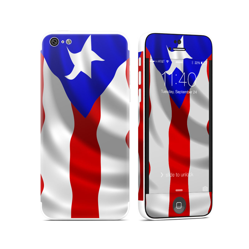 Puerto Rican Flag iPhone 5c Skin