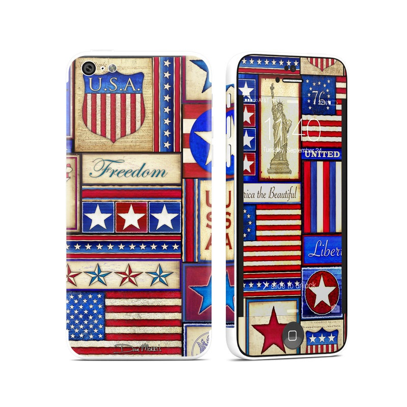 Flag Patchwork iPhone 5c Skin