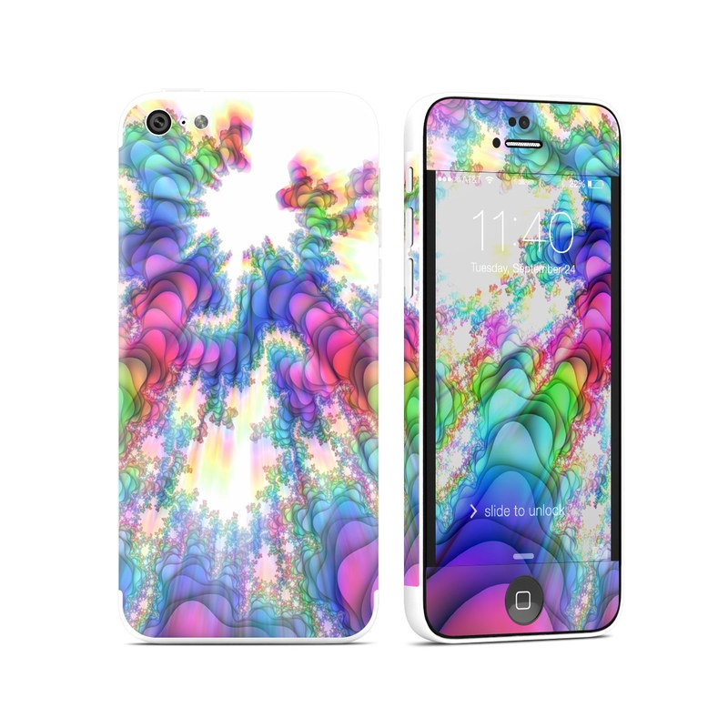 iPhone 5c Skin design of Fractal art, Psychedelic art, Purple, Colorfulness, Art, Graphic design, Pattern, Graphics, Artwork, Symmetry with gray, white, blue, purple, pink colors