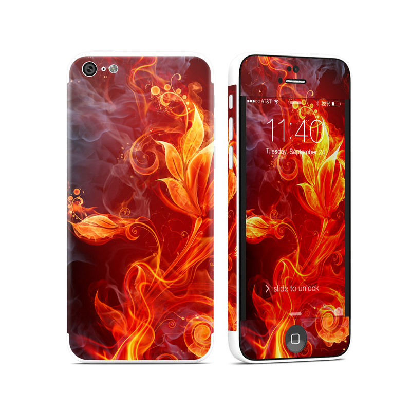 Flower Of Fire iPhone 5c Skin