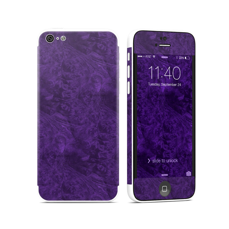 Purple Lacquer iPhone 5c Skin