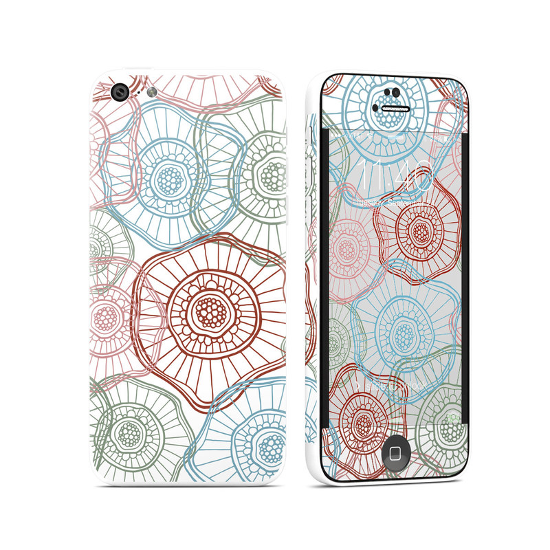 Micro Flowers iPhone 5c Skin
