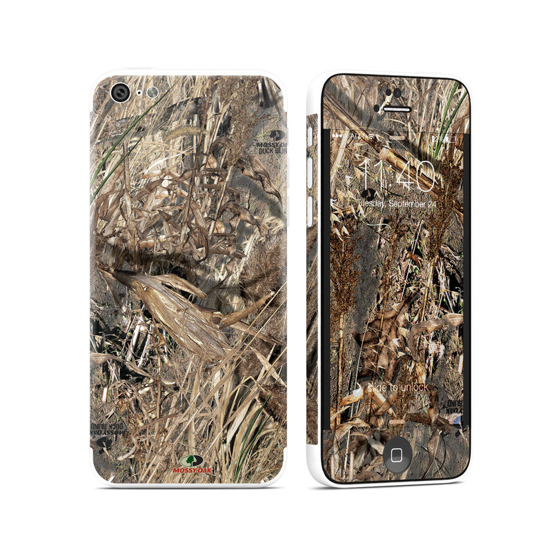 iPhone 5c Skin design of Soil, Plant with black, gray, green, red colors
