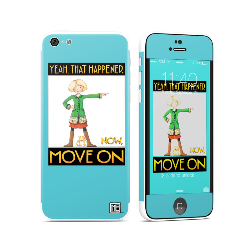 iPhone 5c Skin design of Poster, Cartoon, Illustration with blue, white, black, gray, green colors