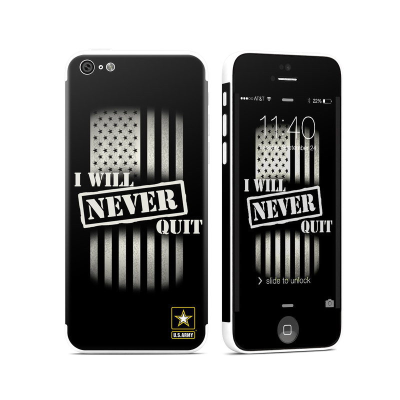 Never Quit iPhone 5c Skin