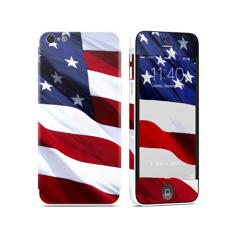 Patriotic iPhone 5c Skin