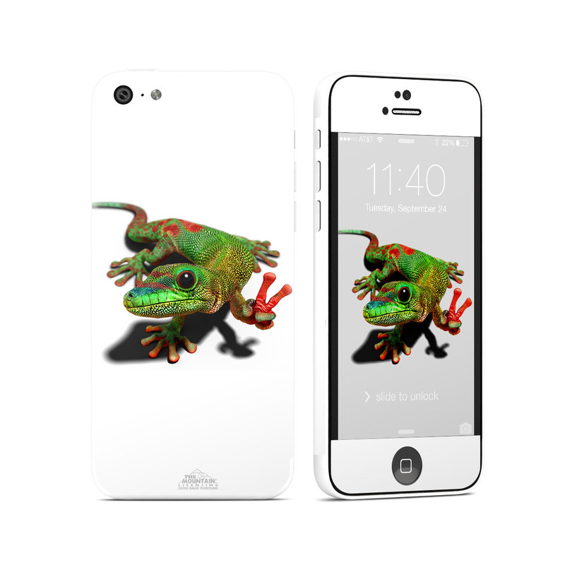 Peace Gecko iPhone 5c Skin