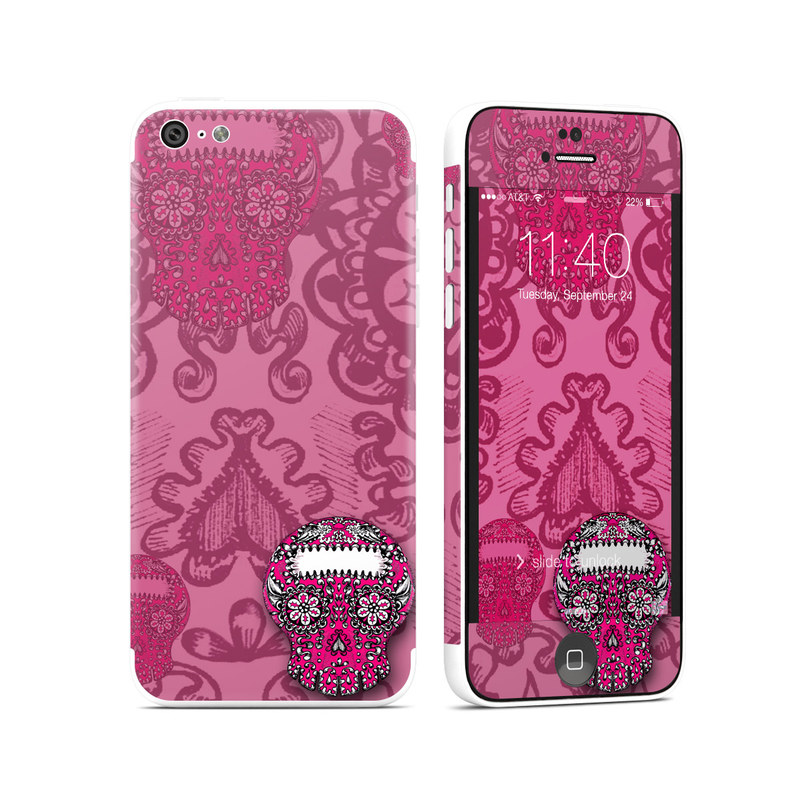 Pink Lace iPhone 5c Skin