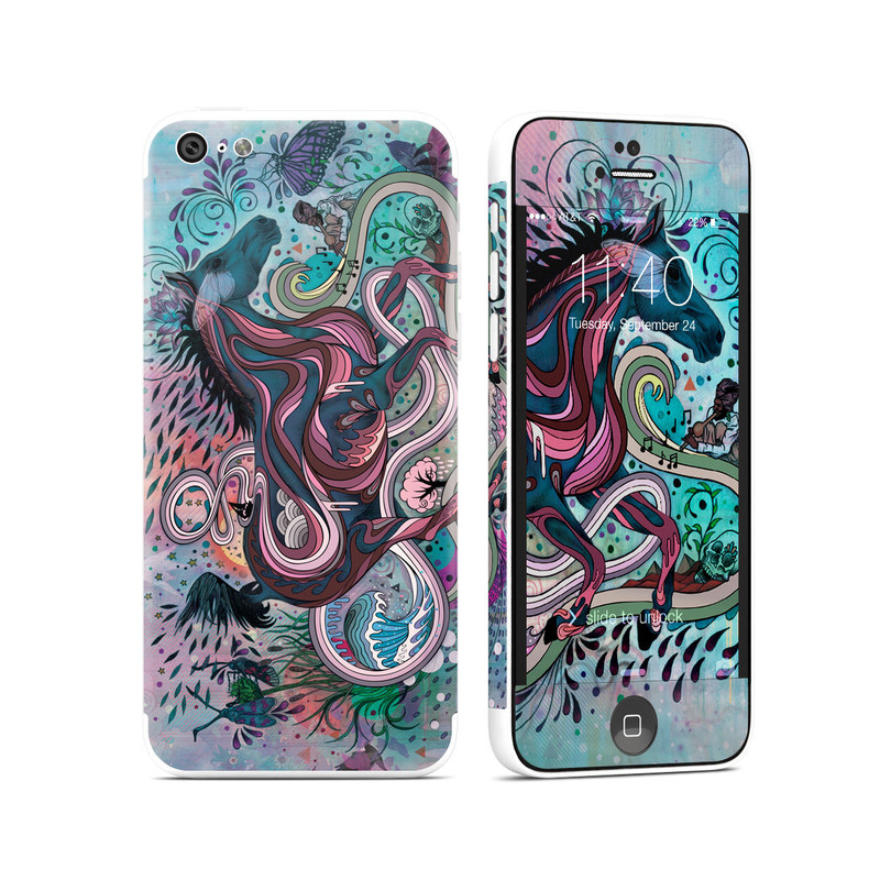 iPhone 5c Skin design of Illustration, Art, Visual arts, Graphic design, Fictional character, Psychedelic art, Pattern, Drawing, Painting, Mythology with gray, black, blue, red, purple colors