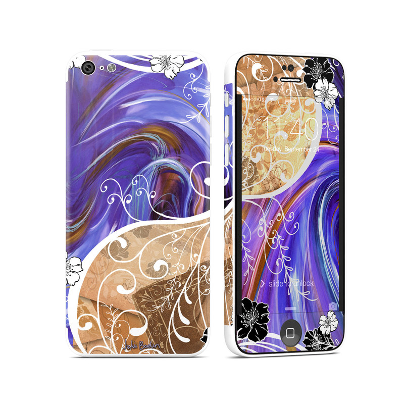 Purple Waves iPhone 5c Skin