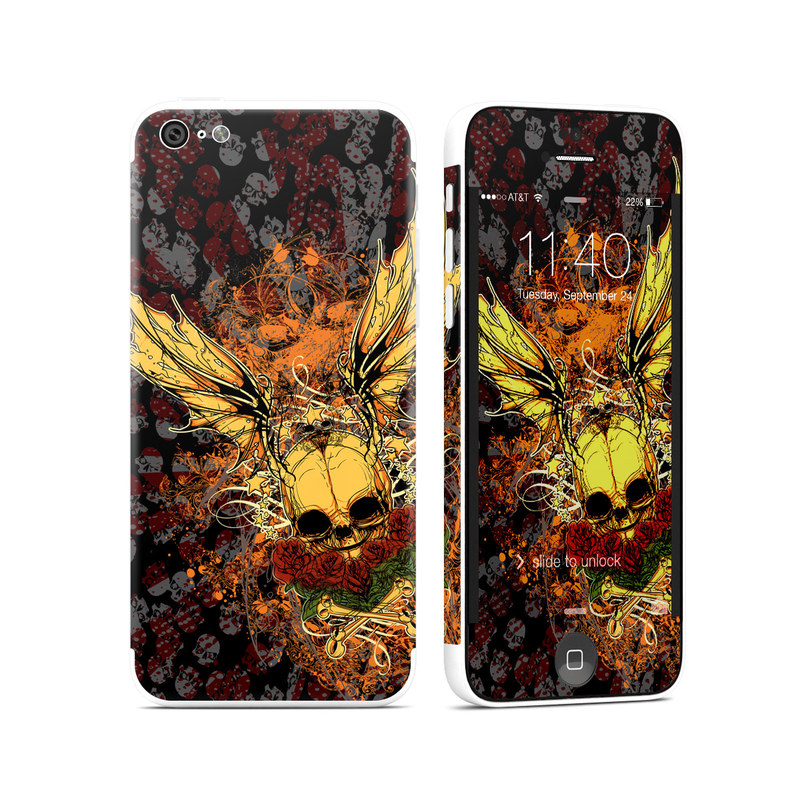 Radiant Skull iPhone 5c Skin
