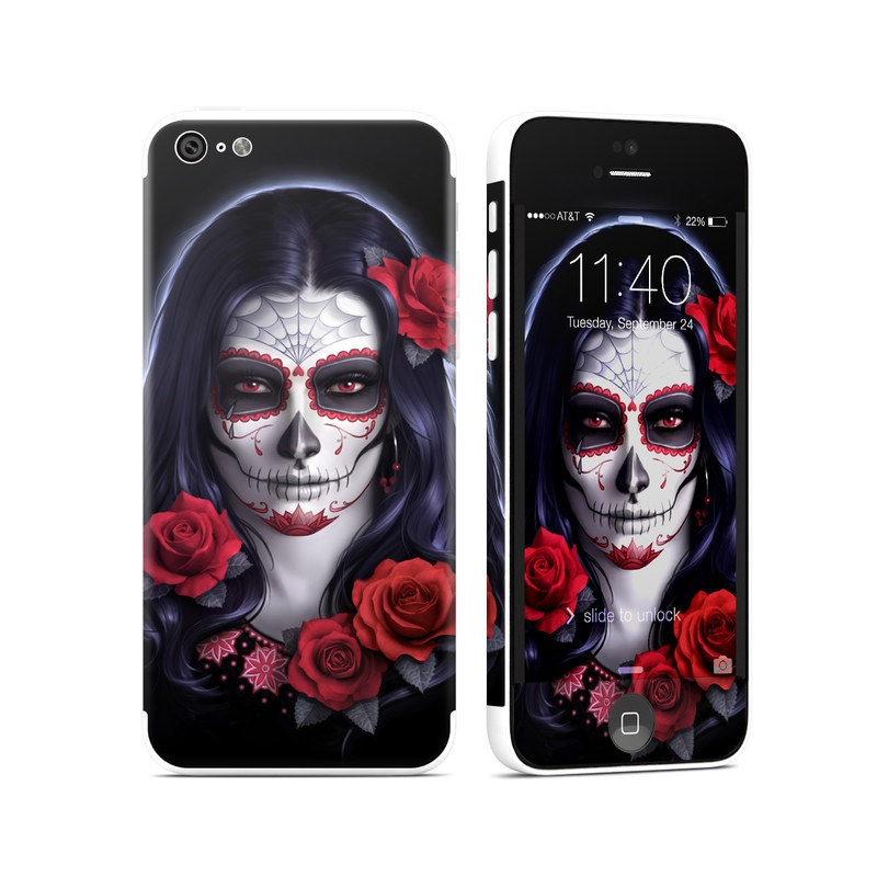 Sugar Skull Rose iPhone 5c Skin