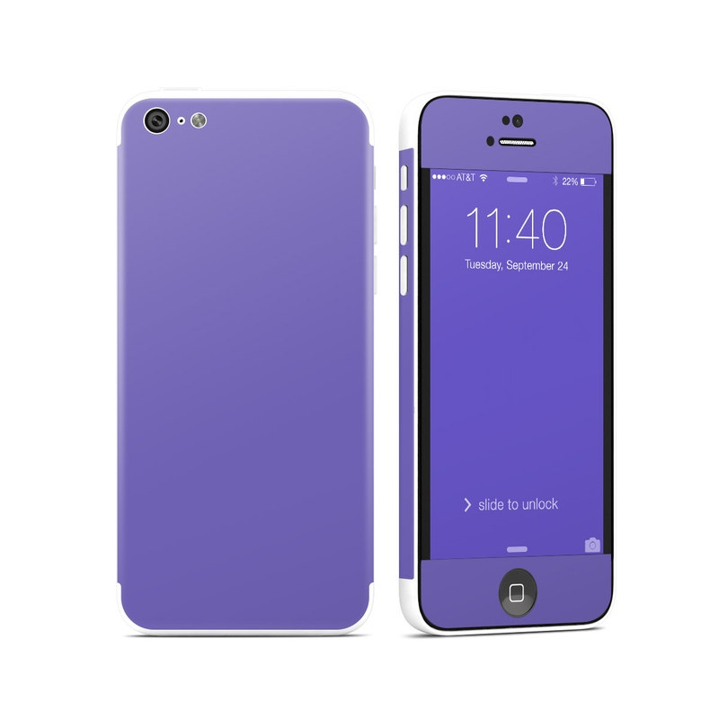 Solid State Purple iPhone 5c Skin